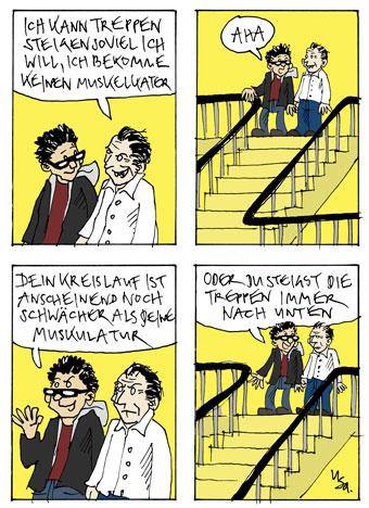 Flausen: Treppe
