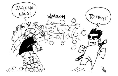 Schneeballschlacht: Towbson